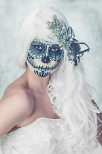 BEAUTIFUL MEXICAN SUGAR SKULL CANVAS PICTURE #43 GOTHIC WEDDING BRIDE CANVAS