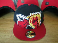 NBA Miami Heat Human Torch New Era Hat Fantastic Four Marvel Comics  7 1/4 NEW