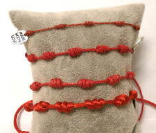 "Pulsera amuleto"" SUERTE""   7 nudos rojos (sept) Hilo encerado de 1mm"