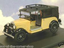 EXCELLENT OXFORD DIECAST 1/43 1930s AUSTIN SURBAISSÉES taxi en fauve & Noir