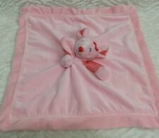 Carters Pink Mouse Stripe Baby Blanket Rattle Satin Security Lovey