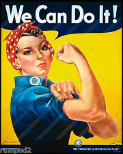 Vintage war poster/Print/Rosie the Rivitor/16x20 inch/WWll/We Can Do It