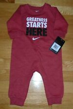 Nike Baby Boys Romper Red Heather Coverall Infant Toddler Boys 6M NWT