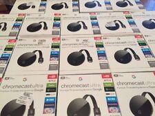 Chromecast Ultra Series 4K Ultra HD/HDR NC2-6A5-D Genuine Google Chrome Cast