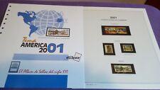 hojas sellos america upaep, Efilcar especial 2001.