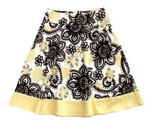 My Michelle White/Brown/Yellow Floral Skirt-Juniors-Sz 3    EXCELLENT!