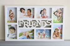 High Class Plastic 8 in 1 Multi Photo Frame - 'Friends' -White or Black -On Sale