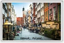 GDANSK - JUMBO FRIDGE MAGNET - POLAND POLSKA POLISH WARSAW KRAKOW