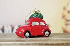 Vintage Car Hanging Christmas tree decoration (Red)
