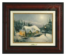 Thomas Kinkade Silent Night 9 x 12 Canvas Classic (Burl Frame)