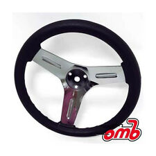 "Go-Kart Steering Wheel 12"" diameter 1/2"" center hole (3) 1/4"" mounting holes"