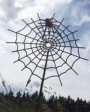 Spinne 3D Spinnennetz Netz Gartenstecker Rost Edelrost Metall Spider Halloween