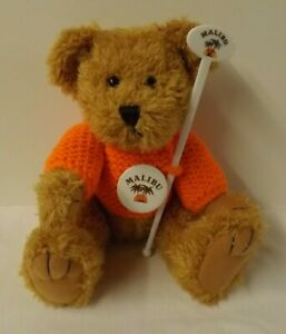 Lovely Teddy Bear with Malibu drink / alcohol theme in gift bag
