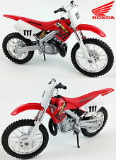 HONDA CR250 1:18 Die-Cast Motocross 2-Stroke MX Toy Model Bike Red NEW MAISTO