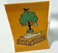 Vintage Boy Scout  Badge City Of Glasgow