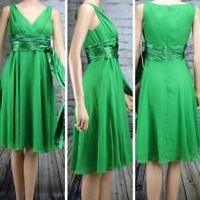 CHADWICKS Dress Green Sexy V Neck Surplice Empire Waist formal Sleeveless NWT 6P