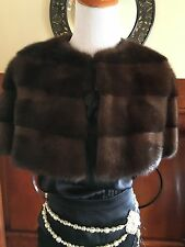 Moschino Chocolate Brown Mink Fur jacket coat Shrug! 6
