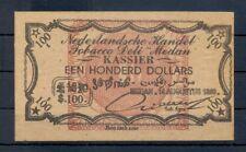 DUTCH INDIES INDONESIA 1899- TOBACCO-PLANTAGE GELD ?= $100 -PRIVATE ?? @2