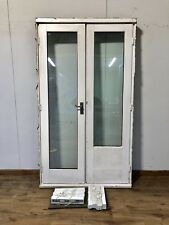 WOODEN FRENCH DOORS-HARDWOOD-WINDOW-DOUBLE GLAZED-EXTERIOR-EXTERNAL-BLINDS-FRAME
