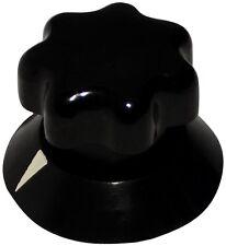 Bouton de potentiomètre pour axe 6mm Ø25x22mm noir avec indicateur blanc
