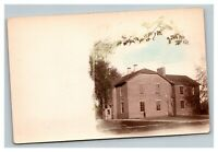 Vintage 1900's Colorized RPPC Postcard Residential Home or School