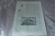 John Flaxman sculptor Memorials 1868 Art Journal original print article 16 pages