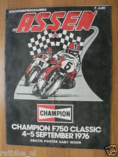 1976 F750 CLASSIC CHAMPION RACE ASSEN 4/5-09-1976,POSTER NIXON, COVER DAMAGED A