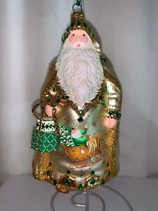 Patricia Breen ornament, Happy Christmas Truman, gold & Green,#3942, 2019