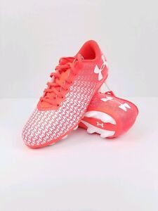Youth Under Armour CF Force 3.0 FG Rubber Molded Jr 1.5Y 1278846 Soccer Cleats