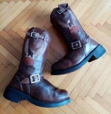 Womens Brown Harley Davidson Boots Size 6