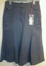 Marks and Spencer skirt size 8 grey with light grey spots bnwt