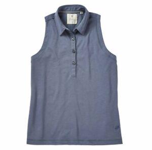 Linksoul Womens Sleeveless Polo Golf Shirt LSW137 Dawn - Size Small