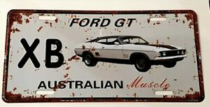 FORD GT XB metal signs Aust Muscle cars man cave gift shed bar 30x15cm FREEPOST