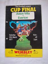 Orig.PRG   ENGLAND  League Cup  FINALE 1977   ASTON VILLA - FC EVERTON !! SELTEN