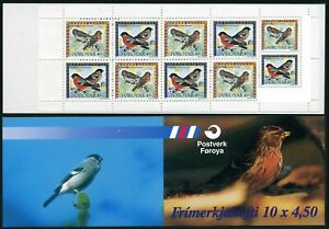 Faroe 313-314a booklet,MNH.Michel 315-316. Birds 1997. BIRDS:Pyrhulla,Carduelis