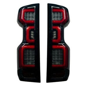 Recon 264397LEDBK LED Tail Lights OLED Smoked For 19-20 Silverado 1500/2500 NEW