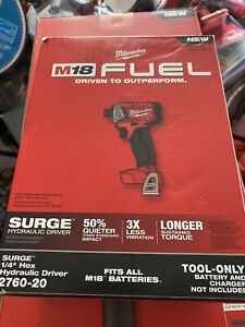 MILWAUKEE 2760-20 M18 FUEL SURGE 1/4 In. Hex Hydraulic Impact Driver NEW