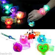 1PC BD Motion Control LED Light Flashing Silicon Wristbands Bracelet Kids Safety
