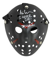 "Ari Lehman Friday The 13th ""I Never Die Jason 1"" Authentic Signed Black Mask BAS"