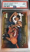2003 UD Collectibles Freshman Season LeBron James Rookie PSA 9 Mint #34 Low POP!