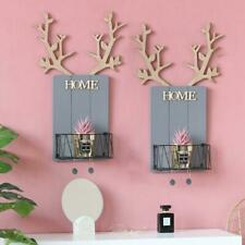 Minimalist Style Wooden Antler Wall Ornament Home Room Wall Hanging Shelf Decor