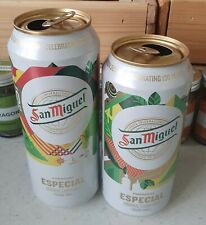 More details for 2 x limited edition design san miguel 130 years empty lager cans 500ml + 440ml