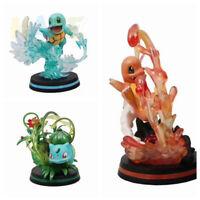 Anime Pocket Monster Charmander Squirtle Bulbasaur 11cm Figure Toy Decoration