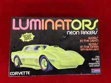 Luminators monogram neon racers Corvette model kit sealed 1605 vintage 1990 rare