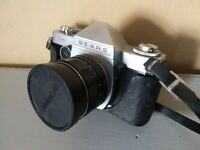 Sears TLS 35mm SLR Camera With 55mm 1.8 Lens & Leather Case