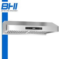 00004000 3-Speed 800 Cfm Fan 30'' Under Cabinet Stainless Steel Range Hood Touch Pad Led