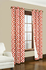 """Thermalogic Trellis Grommet Top Insulated Curtain Pair, 80"""" x 84"""", Coral"""
