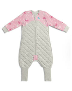 LOVE TO DREAM SLEEP SUIT 2.5 TOG - PINK / GREY 12-24 MONTHS SIZE 1