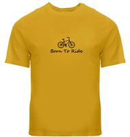 Ride Bicycle Unisex Tee T-Shirt Mens Women Gift Print Shirts Born To Ride Bike