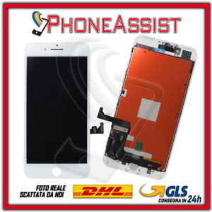 DISPLAY LCD VETRO TOUCH Apple iPhone 7 Plus SCHERMO ORIGINALE TIANMA Bianco